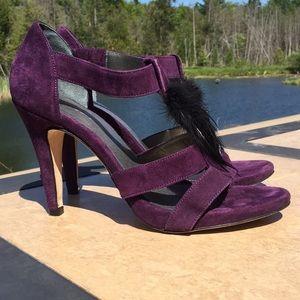 Boden Purple Suede Heels Sz 40